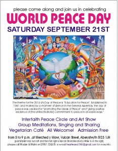 International day of peace and Aberystwyth event