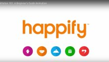Screengrab from video with happify logo