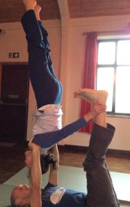 Alyson in reverse shoulder stand