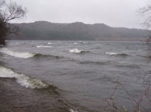 Waves on lake