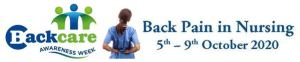 Logo for Backcare awareness week and the 2020 dates