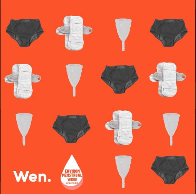 Images of resuable menstrual products